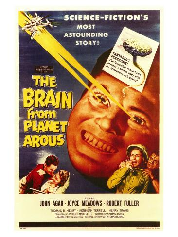 The Brain From Planet Arous, 1958 Art Print
