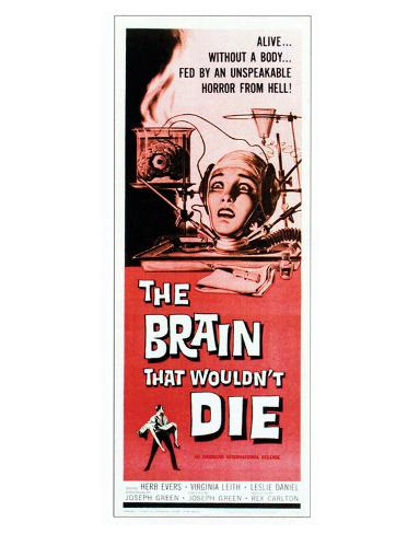 The Brain That Wouldn't Die - 1962 Impressão giclée