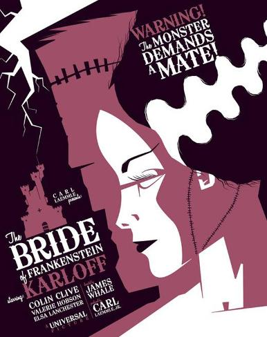 The Bride of Frankenstein Masterprint