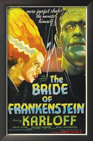 The Bride of Frankenstein Impressão artística emoldurada