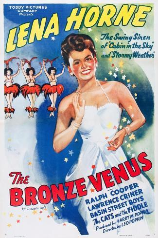 The Bronze Venus, (aka The Duke is Tops), Lena Horne on 1943 poster art, 1938 Lámina