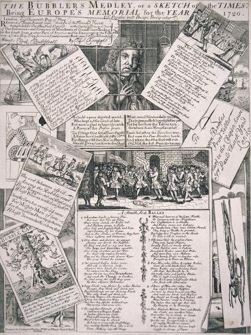 The Bubblers Medley, or a Sketch of the Times, 1720 Lámina giclée