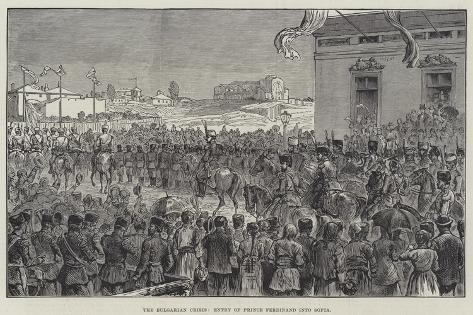 The Bulgarian Crisis, Entry of Prince Ferdinand into Sofia Giclee Print