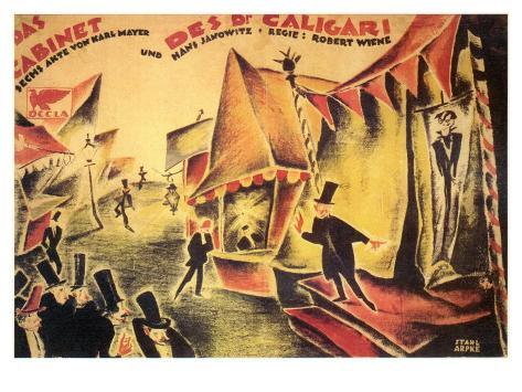The Cabinet of Dr. Caligari, 1919 Art Print