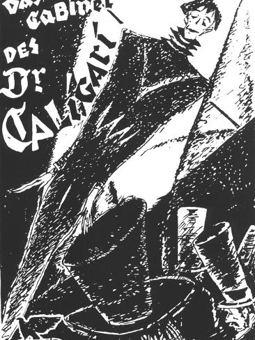 The Cabinet of Dr. Caligari, German Movie Poster, 1919 Art Print