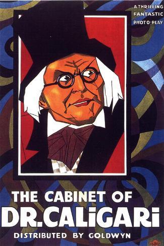 The Cabinet of Dr Caligari Movie Werner Krauss Conrad Veidt Poster Print Poster