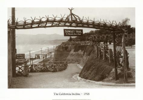 The California Incline, California 1918 Art Print