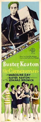 The Cameraman, Buster Keaton, 1928 Impressão artística