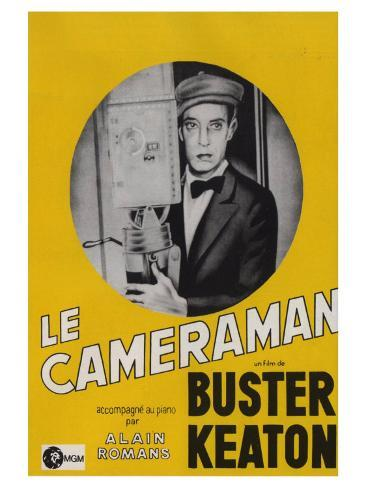 The Cameraman, French Movie Poster, 1928 Art Print