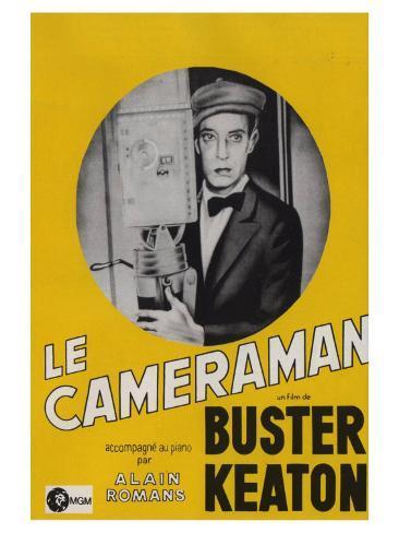 The Cameraman, French Movie Poster, 1928 Impressão artística