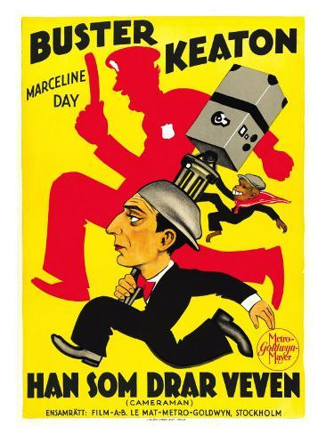 The Cameraman, Spanish Movie Poster, 1928 Art Print