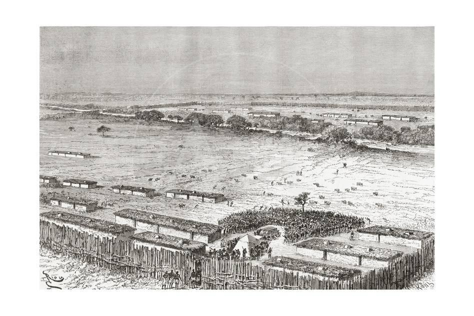 The Capital of Uhehe, Tanzania, as it Was in the Late 19th Century ...
