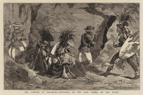 The Capture of Sekukuni, Entrance of the Cave Where He Was Found Giclee Print