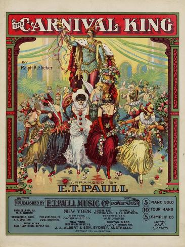 The Carnival King, Sam DeVincent Collection, National Museum of American History Stampa artistica