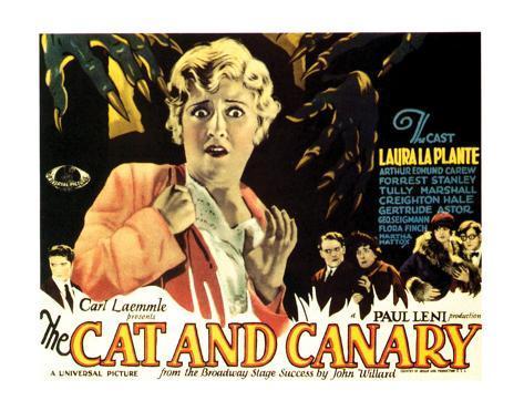 The Cat And The Canary - 1927 I Impressão giclée