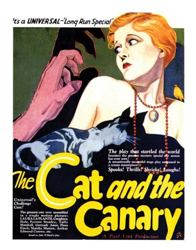 The Cat And The Canary - 1927 II Impressão giclée