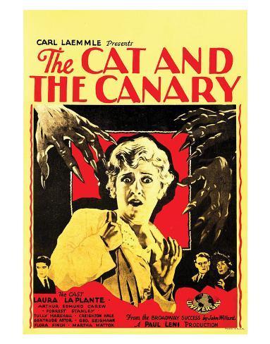 The Cat And The Canary - 1927 III Impressão giclée