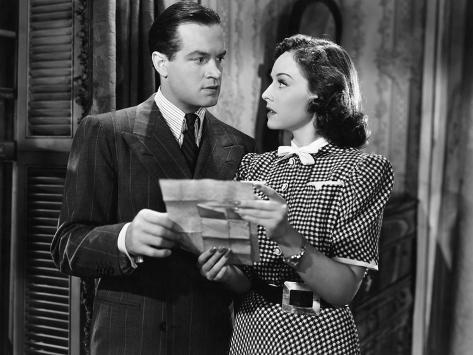 The Cat And The Canary, Bob Hope, Paulette Goddard, 1939 Photo