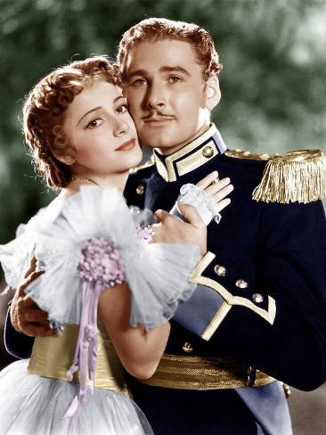 THE CHARGE OF THE LIGHT BRIGADE, from left: Olivia de Havilland, Errol Flynn, 1936 Photo