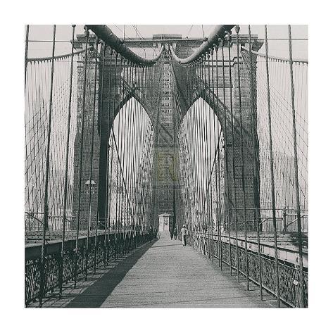 The Brooklyn Bridge, Sunday AM Art Print