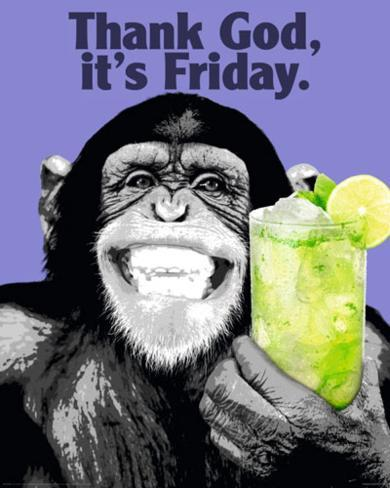 The Chimp-Friday Mini Poster