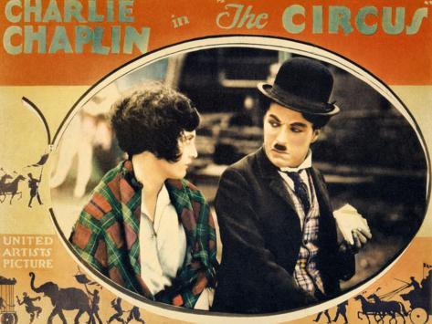 THE CIRCUS, Merna Kennedy, Charlie Chaplin, poster art,  1928 Impressão artística