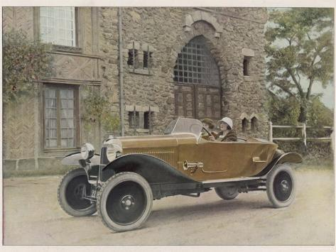 The Citroen Caddy of 12Hp is a Sporty Little Two-Seater for Summer Touring Photographic Print