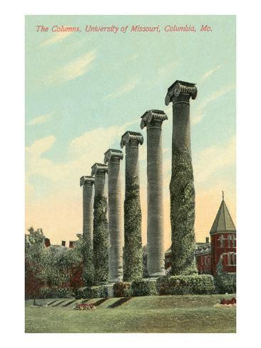 The Columns, University of Missouri Art Print