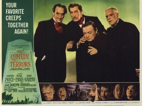 The Comedy of Terrors, 1964 Art Print