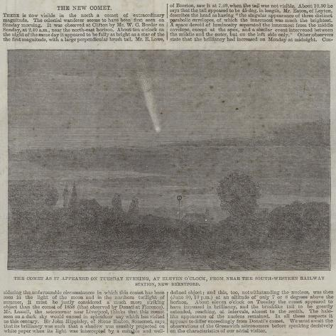 The Comet as it Appeared on Tuesday Evening Giclee Print
