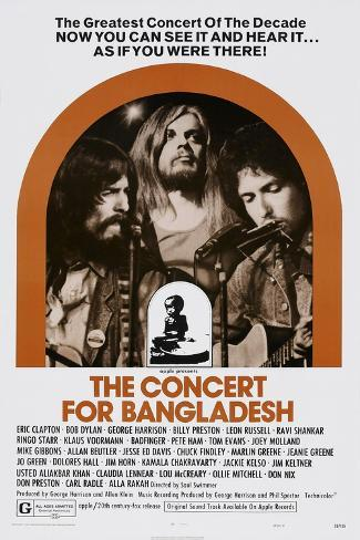 The Concert for Bangladesh, from Left: George Harrison, Leon Russell, Bob Dylan, 1972 Art Print