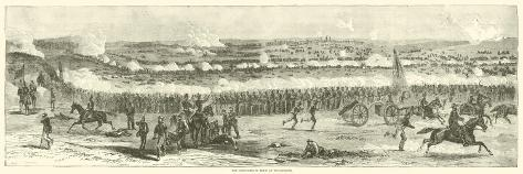 The Confederate Rout at Winchester, September 1864 Giclee Print