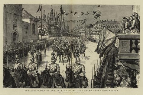 The Coronation of the Czar of Russia, the Czar's Entry into Moscow Giclee Print