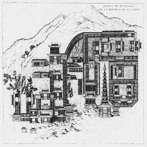The Country Home of the Emperor of China Stampa giclée