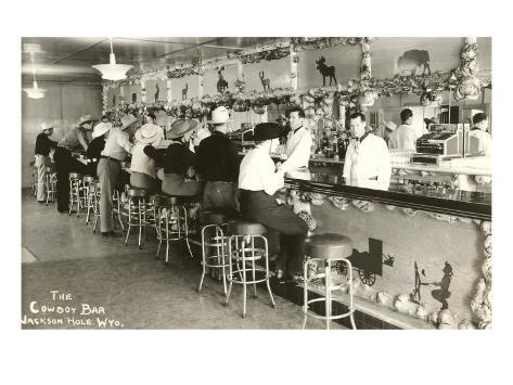 The Cowboy Bar, Jackson Hole, Wyoming Art Print
