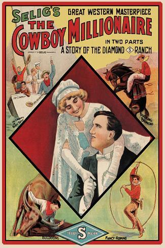 The Cowboy Millionaire Movie Tom Mix Poster