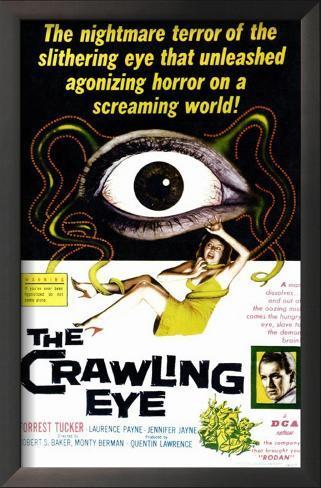The Crawling Eye Impressão artística emoldurada