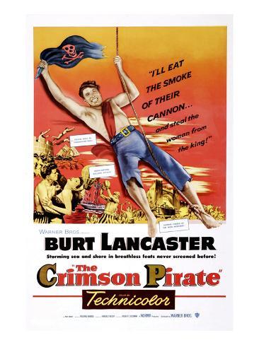 The Crimson Pirate, Burt Lancaster, Eva Bartok, 1952 Stretched Canvas Print