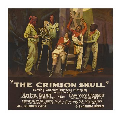 The Crimson Skull Art Print