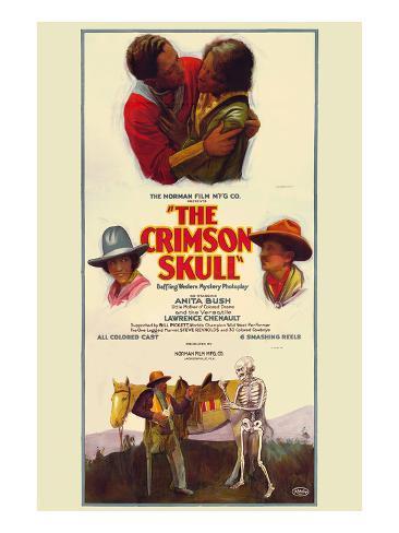 The Crimson Skull Art Print