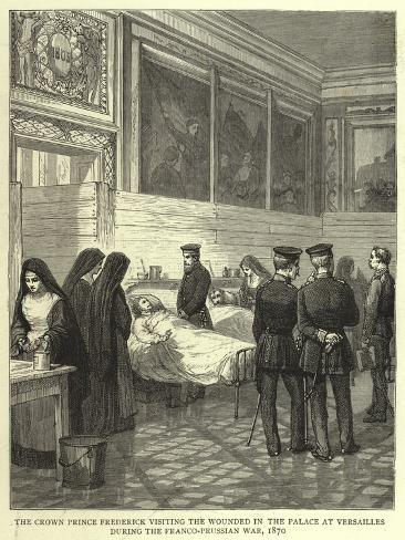 The Crown Prince Frederick Visiting the Wounded in the Palace at Versailles During the Franco-Pruss Giclee Print