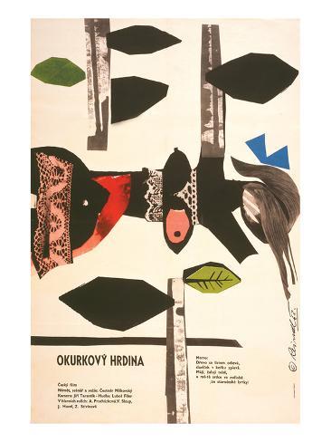 The Cucumber Hero-Okurkovy Art Print