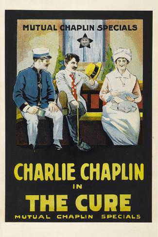 The Cure Movie Charlie Chaplin Edna Purviance Poster Print Poster