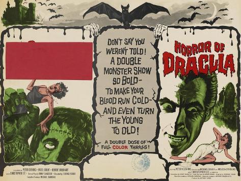 The Curse of Frankenstein, 1957, Horror of Dracula, 1958, Christopher Lee Impressão artística