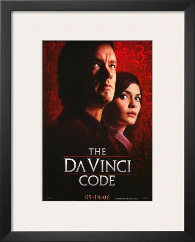 The Da Vinci Code Impressão artística emoldurada