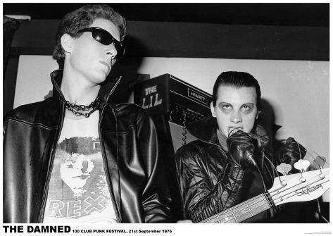 The Damned - 100 Club 1976 Poster