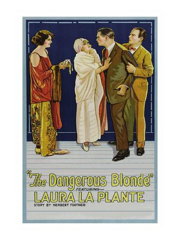 The Dangerous Blonde Art Print