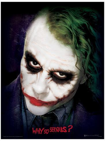 The Dark Knight - Joker Face Masterprint