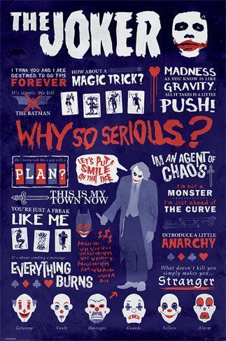 The Dark Knight - Joker Quotographic Poster