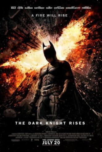 The Dark Knight Rises (Christian Bale, Tom Hardy, Anne Hathaway) Movie Poster Double-sided poster